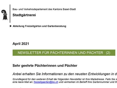 Pächterbrief Stadtgärtnerei 2/21